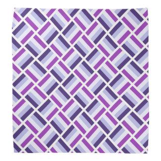 Quadratisches Muster - blaues violettes Weiß Kopftuch