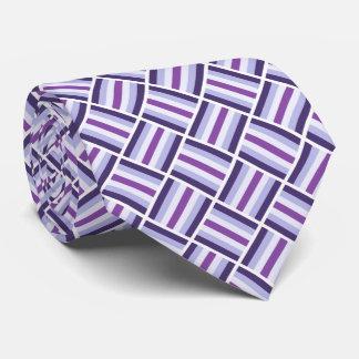 Quadratisches Muster - blaues violettes Weiß Krawatte