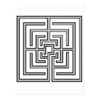 Quadratisches Muster Postkarte
