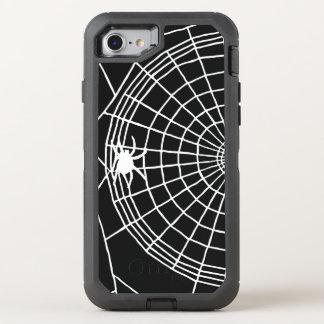 Quadratisches Spinnen-Netz, beängstigender OtterBox Defender iPhone 8/7 Hülle