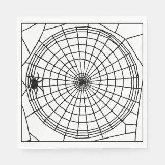 Quadratisches Spinnen-Netz, beängstigender Papierserviette