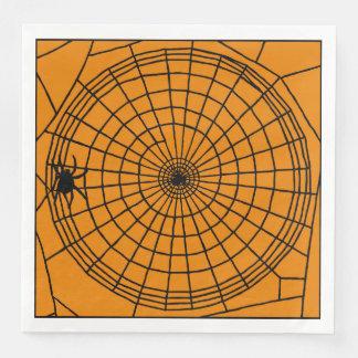 Quadratisches Spinnen-Netz, beängstigender Serviette