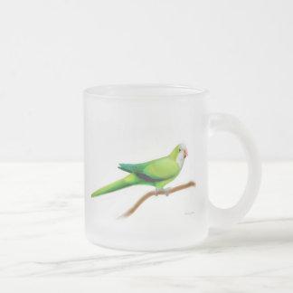 Quäker-Papageien-mattierte GlasTasse Mattglastasse