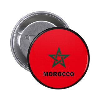 Qualität Marokkos Roundel Flagge Buttons