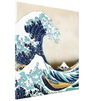 """Qualitäts-große Welle weg von Kanagawa (24"""" x 24"""") Leinwanddruck"""