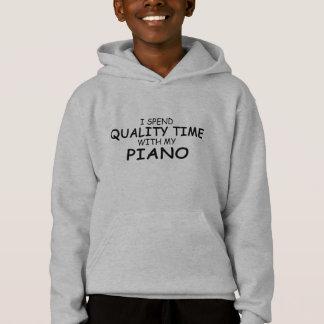 Qualitäts-Zeit-Klavier Hoodie
