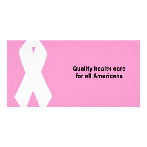 Qualitätsgesundheitswesen für alle Amerikaner Photo Grußkarte