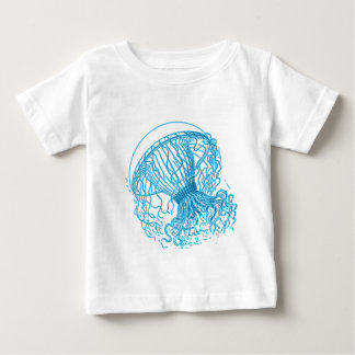 Quallen-Blau Baby T-shirt