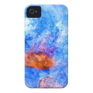 Quallen im Ozean-Aquarell iPhone 4 Case-Mate Hülle