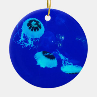 Quallen in Mexiko (blau) Keramik Ornament