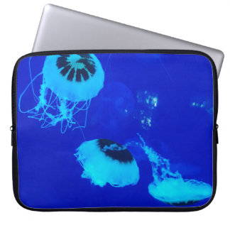 Quallen in Mexiko (blau) Laptop Sleeve