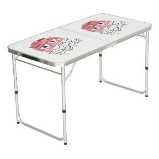 Quallen-Kamm-Klingeln Pong Tabelle Beer Pong Tisch