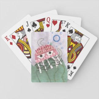 Quallen kämmen Spielkarten