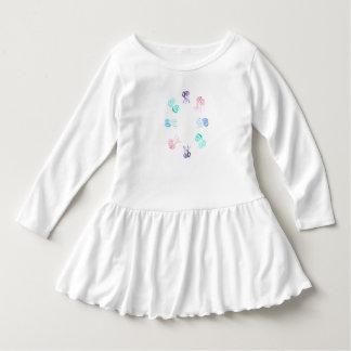 Quallen-Kleinkind-Rüsche-Kleid Kleid