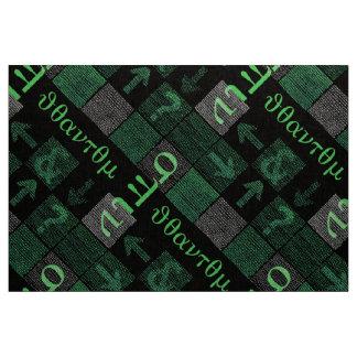 Quantums-Drehbeschleunigung auf binärer Webart Stoff