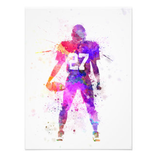 quarterback american football man zu player fotodrucke