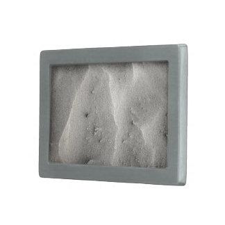 Quarz-Sand abstrakt Rechteckige Gürtelschnalle