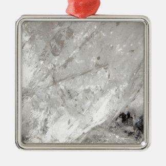 Quarzkristall Zen-Liebeheilende SteinGlitzern Quadratisches Silberfarbenes Ornament