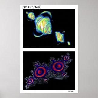 quaternion_d1, quaternion_b1, Fraktale 3D Poster