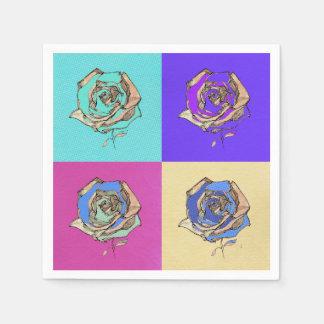 Quatre Rosen Serviette