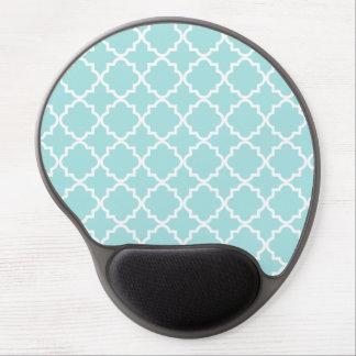 Quatrefoil Muster-Gel Mousepad - Aqua Gel Mousepad