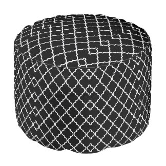 Quatrefoil Muster-Kissen-Puff Hocker