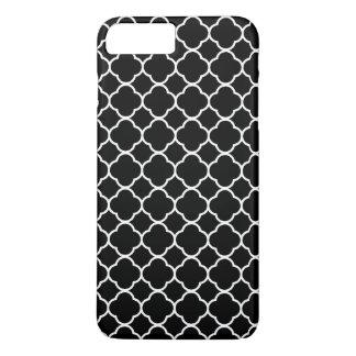 Quatrefoil Muster, Quatrefoil Form - Schwarz-weiß iPhone 8 Plus/7 Plus Hülle