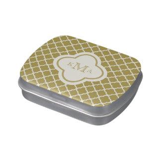 Quatrefoil Muster-stilvolle Süßigkeitenbox