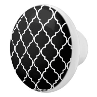 Quatrefoil Muster-Türknauf Keramikknauf