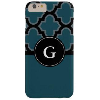 Quatrefoil schwarzer und aquamariner barely there iPhone 6 plus hülle