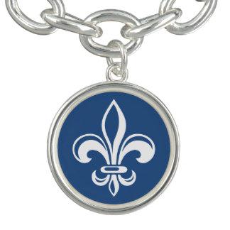 Québec Fleur de Lys élégant Seigneur français Charm Armband