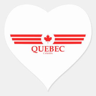 QUEBEC Herz-Aufkleber