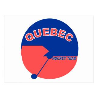 Quebec-Hockey-Team Postkarte