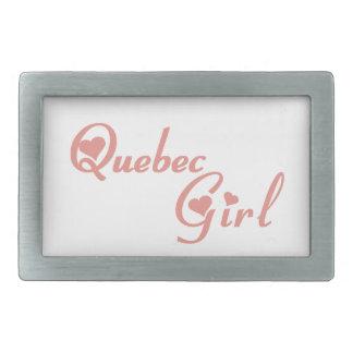 Quebec-Mädchen Rechteckige Gürtelschnallen
