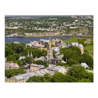 Québec-Stadt, Quebec, Kanada. Schauen unten auf Postkarte