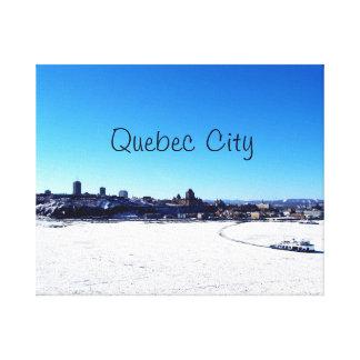 Québec-Stadt und St. Lawrence River auf Winter Leinwanddruck