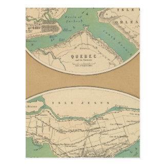 Quebec und seine Umwelt Postkarte