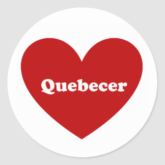 Quebecer Runder Aufkleber