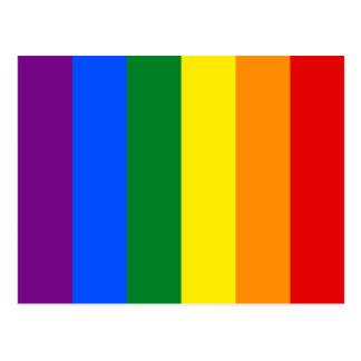Quee LGBTQ Stolz-Flagge Regenbogen-homosexuelle Postkarte