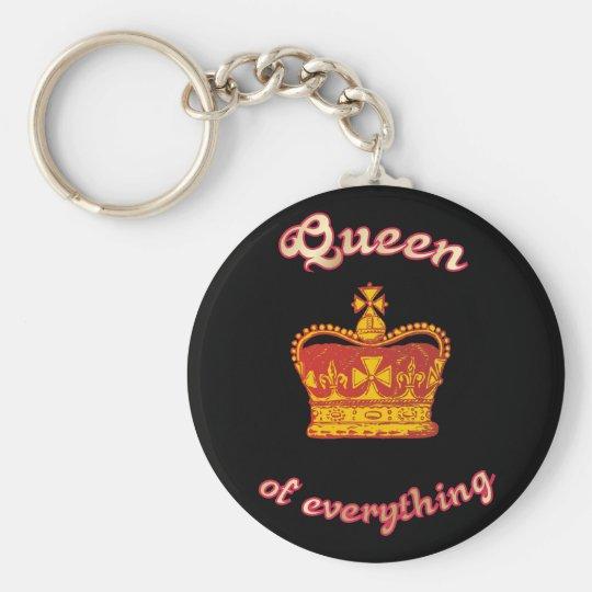 Queen of everything schlüsselanhänger
