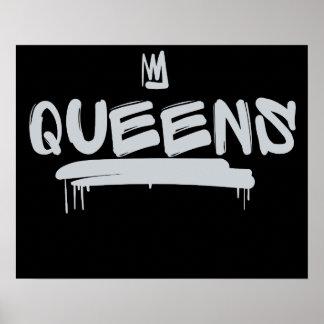Queens-Graffitiumbau Poster