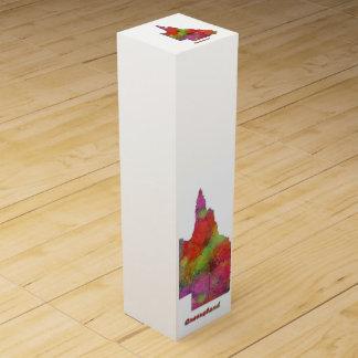 QUEENSLAND-STAATS-KARTE - Wein-Geschenkboxen Flaschen Geschenkverpackungen
