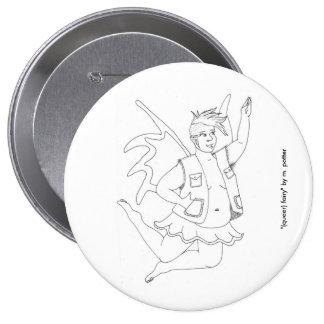 (queer) feenhafter Knopf Runder Button 10,2 Cm