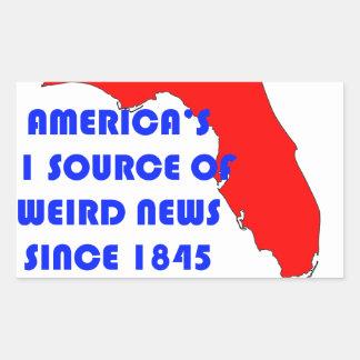 Quelle Floridas #1 für sonderbare Nachrichten Rechteckiger Aufkleber