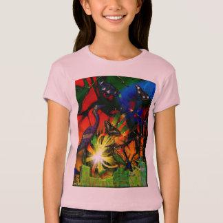 Quellencode-Reiher-Schmetterling abstrakt T-Shirt