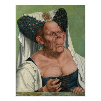 Quentin Massys, die hässliche Herzogin, Ca 1525 Postkarte