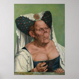 Quentin Massys - eine groteske alte Frau, 1515 Plakatdrucke