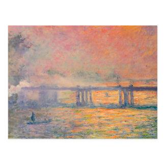 Querbrücke Claude Monets Charing Postkarte