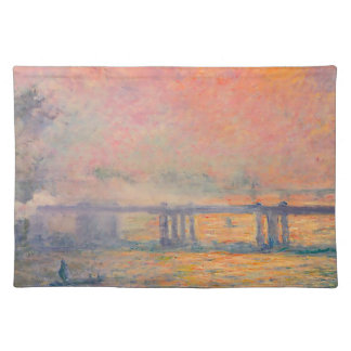 Querbrücke Claude Monets Charing Tischset