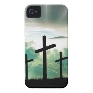 Querchristus-Glauben-Gott Jesus bewölkt Sun-Licht Case-Mate iPhone 4 Hülle